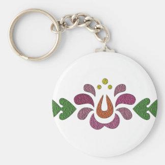 sample-806 basic round button keychain
