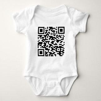 Sample Bitcoin QR Code Baby Bodysuit