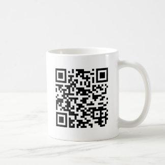 Sample Bitcoin QR Code Coffee Mug