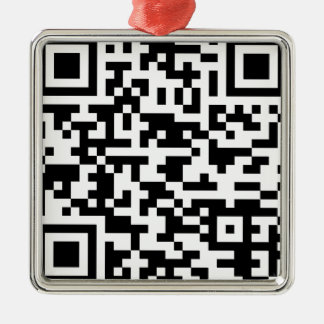 Sample Bitcoin QR Code Metal Ornament