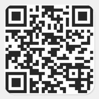 Sample Bitcoin QR Code Square Sticker