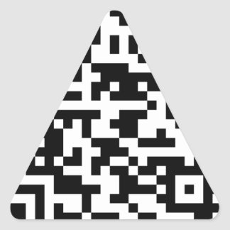 Sample Bitcoin QR Code Triangle Sticker
