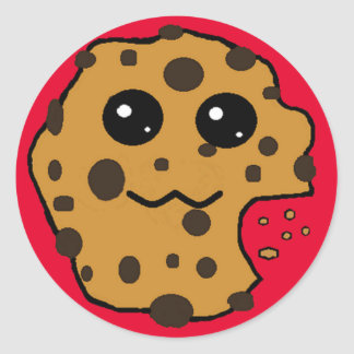 Sample Circle Chocolate chip cookie sticker. Classic Round Sticker