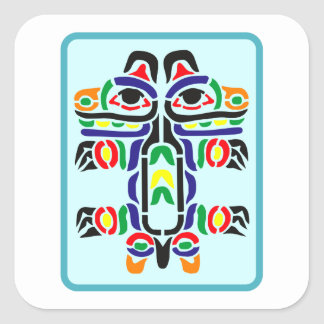 Sample Indian pattern native American Square Sticker