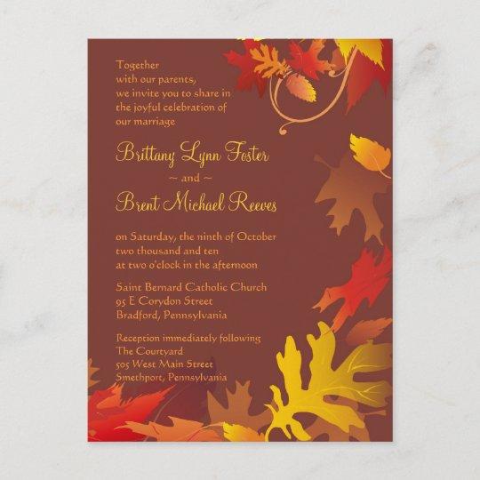 Sample invitation autumn wedding celebration zazzle sample invitation autumn wedding celebration stopboris Choice Image