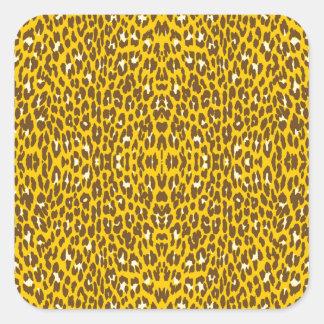 Sample leopard skin pattern leopard hide square sticker