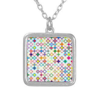 Sample lozenges pattern dia moon necklace