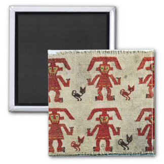 Sample of Lambayeque fabric with a figure 2 Inch Square Magnet