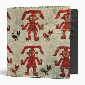 Sample of Lambayeque fabric with a figure 3 Ring Binder