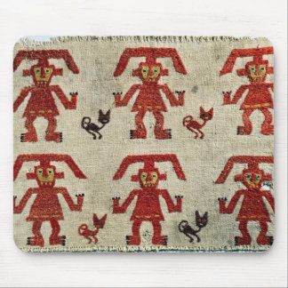 Sample of Lambayeque fabric with a figure Mouse Pad