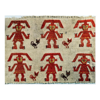 Sample of Lambayeque fabric with a figure Postcard