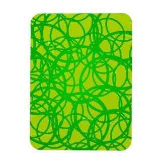 Sample of rings pattern circles rectangular photo magnet