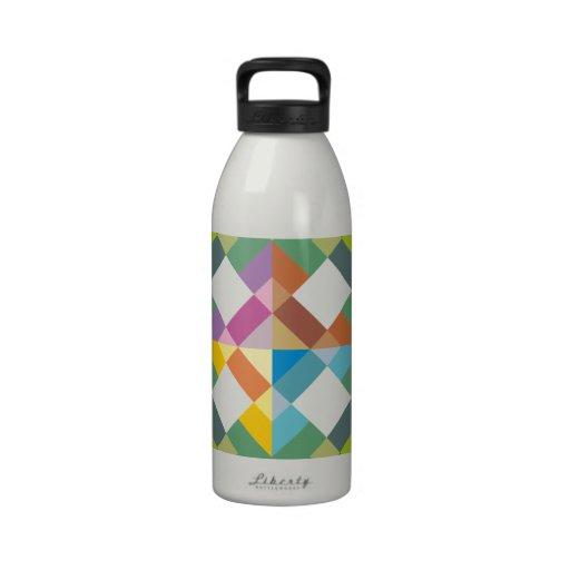 Sample of squares pattern squares reusable water bottle