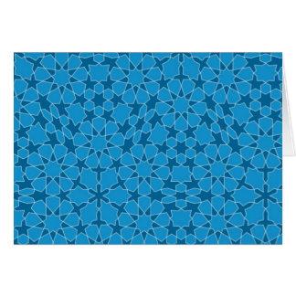 Sample parqueting pattern tesselation greeting card