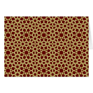 Sample parqueting pattern tesselation card