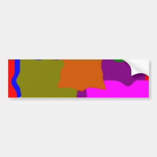 Sample pattern abstract abstractly bumper sticker