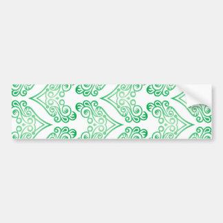 Sample pattern arabesque arabesque bumper sticker