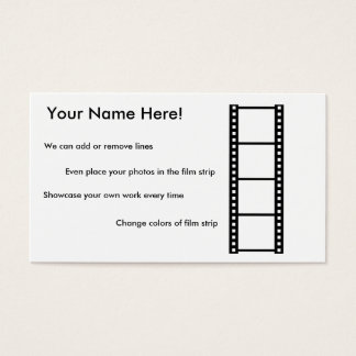 Sample Photography Business Card