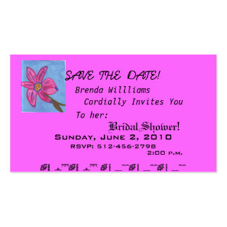 Sample-Save The Date Fancy Card Business Card Template
