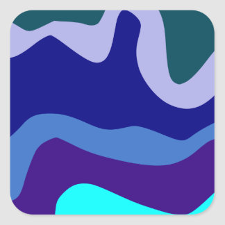 Sample waves pattern waves square sticker