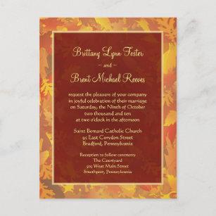 Sample wedding invitations zazzle sample wedding invitation autumn mist frame stopboris Choice Image