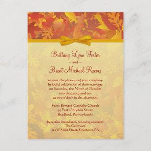 Sample wedding invitations zazzle sample wedding invitation autumn mist gold stopboris Choice Image