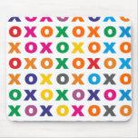 Sample XOXO pattern hugs kisses Mouse Pads