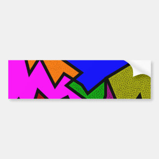 Sample zigzag pattern tens of zag car bumper sticker
