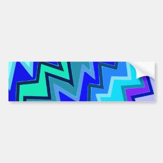 Sample zigzag pattern tens of zag bumper sticker