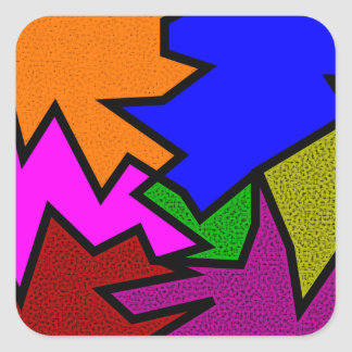 Sample zigzag pattern tens of zag square sticker