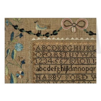 Sampler by N.Ford, 1799, New Hampshire Card