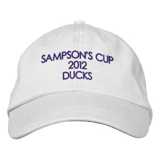 SAMPSON'S CUP 2012 DUCKS EMBROIDERED BASEBALL HAT