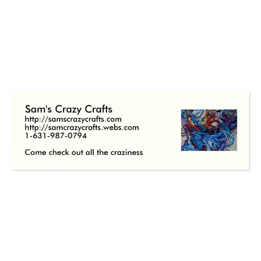 Sam's Crazy Crafts Double-Sided Mini Business Cards (Pack Of 20)