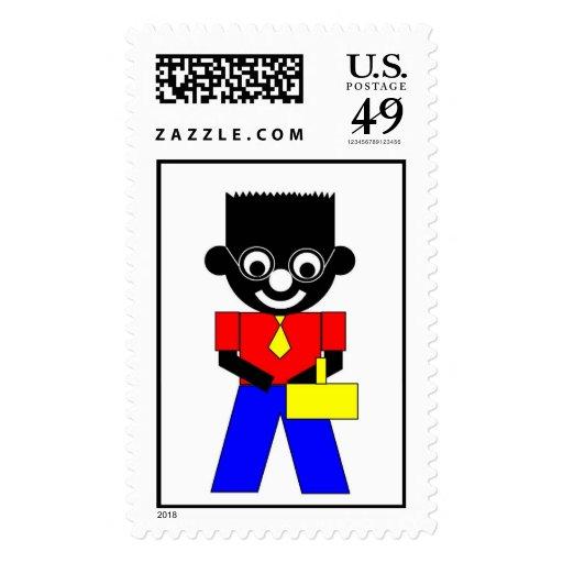 Sam's father postage stamp