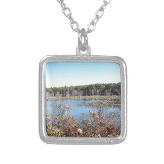 Sams Lake Bird Sanctuary Silver Plated Necklace