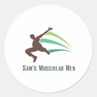 Sam's Muscular Men - Run for Sam Classic Round Sticker