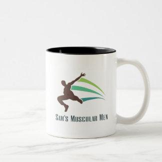 Sam's Muscular Men - Run for Sam Two-Tone Coffee Mug