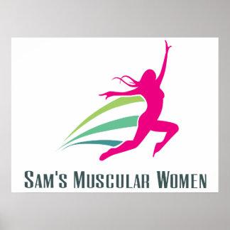 Sam's Muscular Women - Run for Sam Poster