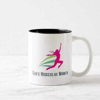 Sam's Muscular Women - Run for Sam Two-Tone Coffee Mug