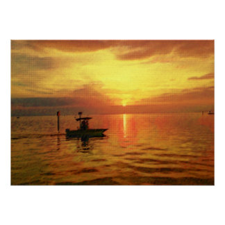 Sam's Sunset Poster