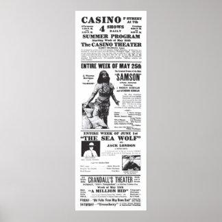 'Samson' 1914 vintage movie ad poster