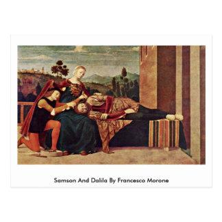 Samson And Dalila By Francesco Morone Postcard