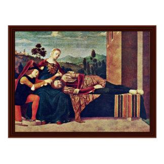 Samson And Dalila, By Morone Francesco Postcard