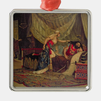 Samson and Delilah 2 Metal Ornament