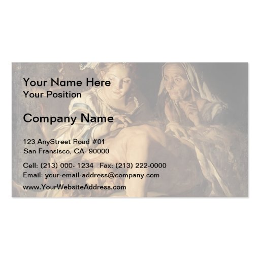 Samson and Delilah by Matthias Stom Business Cards