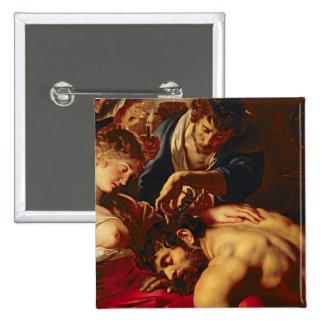 Samson and Delilah, c.1609 Pinback Button