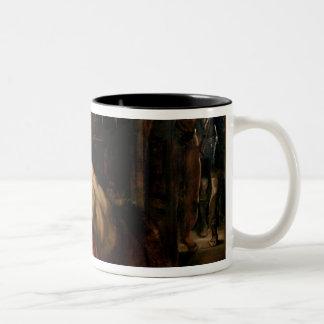 Samson and Delilah, c.1609 Two-Tone Coffee Mug