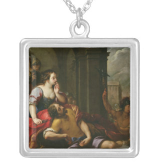 Samson and Delilah Silver Plated Necklace