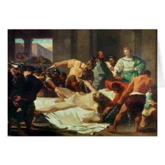 Samson betrayed by Delilah (oil on canvas) Card