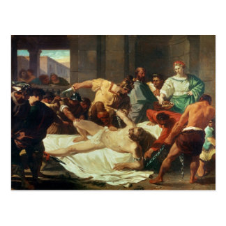 Samson betrayed by Delilah (oil on canvas) Postcard